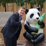 Jon was happy he was able to get so close to the only panda at London Zoo
